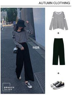Korean Girl Fashion, Korean Fashion Trends, Korean Street Fashion, Ulzzang Fashion, Korea Fashion, Kpop Fashion Outfits, Girls Fashion Clothes, Tomboy Fashion, Look Fashion