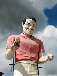 Vintage Roadside Fu Manchu Burt Reynolds Signage...terrifying, and yet I cannot look away.