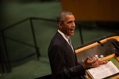 President Obama and President Vladimir V. Putin essentially blamed each other for the catastrophic war in Syria and the refugee crisis it spurred in their speeches at the General Assembly.