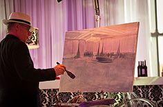 What a great idea - a painter captures the moment of the reception