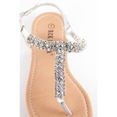 Glitzy Girl Jeweled Thong Sandals - Silver from Sa ($17.99)