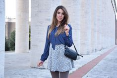 Italian Fashion Blogger wearing a preppy style with Forever 21 clothes and Chanel Cambon