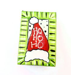 Handpainted Christmas Gift Box. Hand Painted by buttonsbyrobin, $3.99