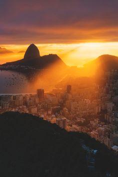 """afroditimou2: """""""" La Bella Salida De Sol © """" esta é a cidade Maravilhosa … Rio De Janeiro, Brasil """" Beautiful"""