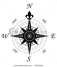 This image inspired the idea of a compass tattoo. I love the fleur de lis and the circle detailing.