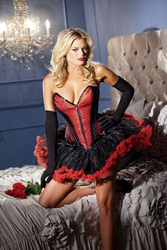 Be Wicked Red Corset