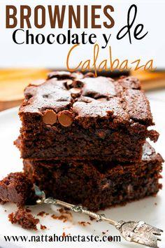 Brownies de chocolate y calabaza Tea Snacks, Blondie Brownies, Low Carb Diet, Brownie Recipes, Sin Gluten, Pumpkin Recipes, Blondies, Vegan Desserts, Sweet