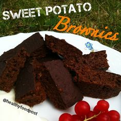 INGREDIENTS: 50g peeled sweet potato, 2 T mashed banana, 1 egg white, 2 T cacao, 1.5 T oats, some baking powder, some stevia INSTRUCTIONS:  Chop sweet potato, put in a small bowl, cover with water and cook in the microwave for ~2 minutes. Put sweet potato (without cooking water), banana, egg white, cacao, oats and baking powder into a food processor, sweeten with stevia and blend. Spray a small baking form with nonstick spray and pour the batter into it. Bake at 400 degrees F for 20-30…