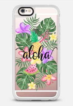 Tropical Watercolor Floral Leaves Aloha iPhone 6s case by Ruby Ridge Studios | Casetify