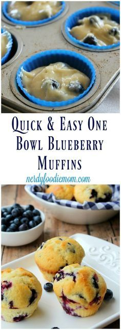 Make My Day Muffins. Quick & Easy One Bowl Blueberry Muffins recipe - these are a great snack or breakfast option especially for busy weeks! Brunch Recipes, Breakfast Recipes, Dessert Recipes, Quick Easy Breakfast, Fodmap Breakfast, Recipes Dinner, Pasta Recipes, Crockpot Recipes, Soup Recipes