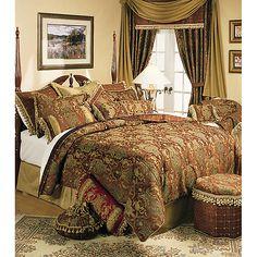 Sherry Kline China Art Brown Queen 6-piece Comforter Set - Overstock™ Shopping - Great Deals on Sherry Kline Comforter Sets
