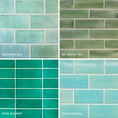 Blue-green Subway Tile - You adore the look of vintage Subway Tile – bold, urban, classic. Functional, yet utterly playful. But how do you make the daunting choice among so many fetching colors and patterns? Our designers are here to guide you towards choosing the colors, dimensions and patterns of the Subway Tile design that best embodies the spirit of your living space.