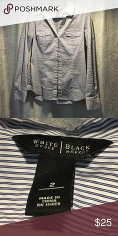 White House black market button down White House black market button down pin striped shirt White House Black Market Tops Button Down Shirts