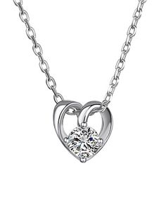 This Swarovski® Crystal Heart Pendant Necklace is perfect! #zulilyfinds