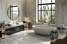 15 The Most Elegant Modern Bathroom Decor Ideas In 2019 – Smart Home and Camper Modern Bathroom Decor, Bathroom Interior, Interior Design Living Room, Bathroom Trends, Bathroom Ideas, Polished Porcelain Tiles, White Porcelain, Porcelain Sink, Bathroom Gallery