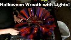 How to make a Halloween Wreath with tulle and spooky lights Halloween Tulle Wreath, Halloween Decorations, Halloween Designs, Halloween Stuff, Halloween Ideas, Tulle Crafts, Deco Mesh Wreaths, How To Make Wreaths, Christmas Angels
