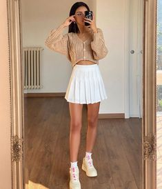 Indie Outfits, Teen Fashion Outfits, Girly Outfits, Cute Casual Outfits, Look Fashion, Stylish Outfits, Girl Fashion, Retro Outfits, Preppy School Outfits