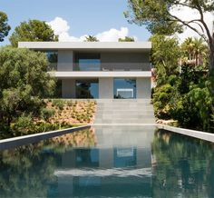 Modern, Minimalist Picornell House With Dramatic Swimming Pool by John Pawson.