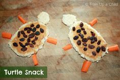 Unit MFW Kindergarten - Tt is for Turtle ~ Learn Play Imagine Kids Cooking Recipes, Cooking With Kids, Snack Recipes, Toddler Meals, Kids Meals, Cute Food, Good Food, Holiday Snacks, Preschool Snacks