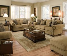 Simmons Upholstery - 4277 PK L - Victoria Loveseat - Antique | Sears Outlet