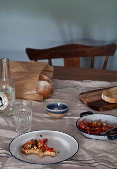 Simple food | Tomato bruschetta by Little Upside Down Cake