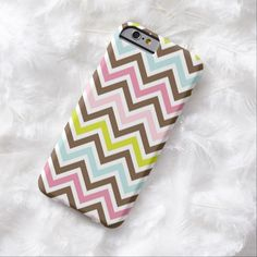iPhone 6 Cases   Chic Aztec Colors - Chevron Zigzag Pattern Barely There iPhone 6 Case