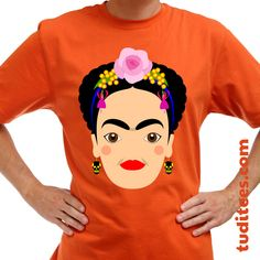 Mexican painter Frida Kahlo. Yours at https://www.redbubble.com/people/handcuffed/works/29431457-frida-kahlo