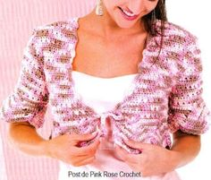 PINK ROSE CROCHET : Bolero