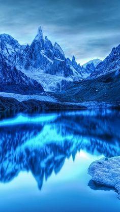 An ice land paradise
