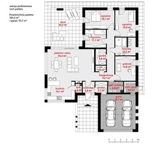 Rzut CPT Koncept 26 CE Home Goods, House Plans, New Homes, Floor Plans, How To Plan, Home Plans, Houses, Future House, Blueprints For Homes