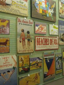 "I love, love these vintage Florida beach posters - from a cute store called ""Hello, Sunshine"" in Miramar Beach."