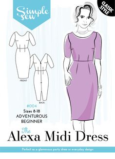 Womens SIMPLE SEW Sewing Pattern The Nancy Tunic Dress /& TOP Long Sleeve Beginner Sizes 8-18