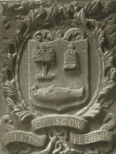 Find Coat Of Arms SALMON | Glasgow's coat of arms inscribed in stone above the entrance to ...