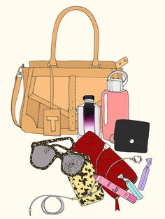 with a CH has a kitten bkr in her bag <3 kristina illustration.