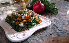 Kale Sweet Potato Salad -- This is one of my favorite salads in the autumn. I usually double this recipe and keep it in the fridge for an energy packed snack or side dish. Deena Kastor/Runner's World