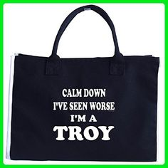 Keep Calm And Calm Down Ive Seen Worse. Im A Troy - Tote Bag - Top handle bags (*Amazon Partner-Link)