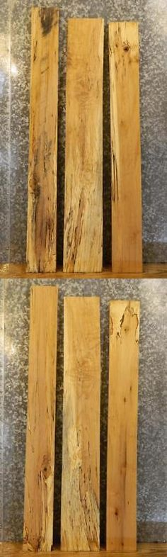 Other Wood and Project Materials 183160: 3- Salvaged Kiln Dried Spalted Maple Craft Pack Lumber Boards 16900-16902 -> BUY IT NOW ONLY: $131.95 on eBay!