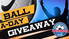 Win a soccer ball! US Youth Soccer is giving away a ball every day in September for Youth Soccer Month! Us Youth Soccer, Days In September, Soccer Ball, Company Logo, European Football, Futbol, Football