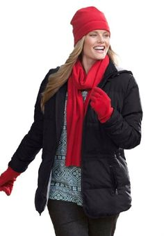 Woman Within Plus Size Jacket in short lightweight feather down $69.99