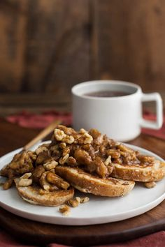 Bourbon Banana and Walnut French Toast | Naturally Ella