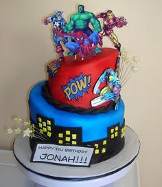 Marvel Cake by zacocakes, via Flickr