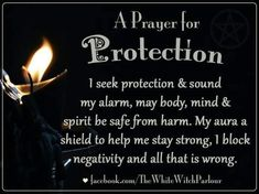 Perfect little prayer to place an intention on a crystal or stone for protection. Amethyst and Moon Stone are my favorite for protection. Prayer For Protection, Protection Spells, Magick Spells, Witchcraft, Healing Spells, Luck Spells, Smudging Prayer, Practical Magic, Evil Spirits