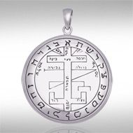 Sigil Of The Archangel Gabriel Sterling Silver Pendant