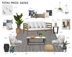 Budget Room Design: Bohemian Outdoor Living Room | Emily Henderson | Bloglovin'