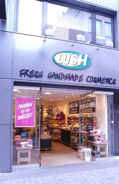 Love this place! lush handmade cosmetics, a great company that has integrity to its products and employees