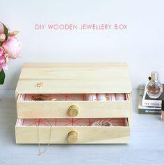 DIY Wooden Jewellery Box Tutorial
