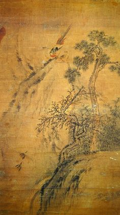 PAINTING: Kim Hong-do - Drunken Monk Under a Pine Tree, Danwon's works are still widely treasured today. Korean Painting, Japanese Painting, Modern Pictures, Comic Pictures, Korean Art, Asian Art, Ink Painting, Vintage World Maps, Folk