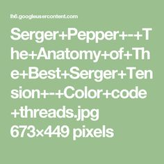 Serger+Pepper+-+The+Anatomy+of+The+Best+Serger+Tension+-+Color+code+threads.jpg 673×449 pixels