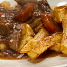 A very yummy recipe for simple beef stew with fries.. Simple Beef Stew With Fries Recipe from Grandmothers Kitchen.