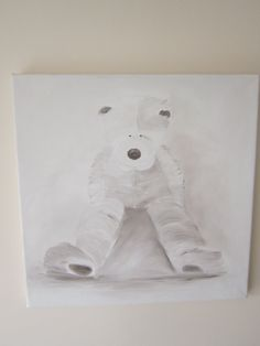 Teddy Bear painting original painting oil by AngelAtMyEasel